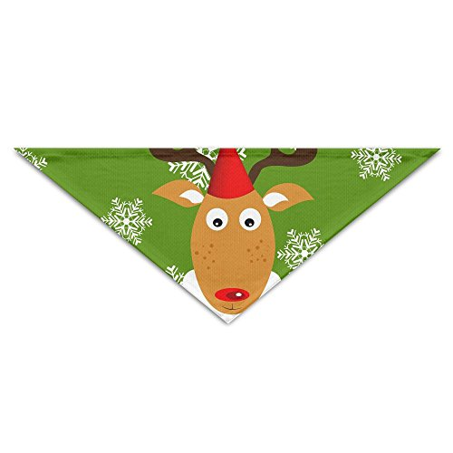 Jingclor Pet Triangle Bandana Christmas Cute Reindeer Washable Dog Puppy Scarf Bib Babys Neckerchief Accessories