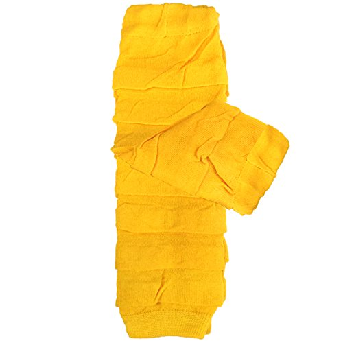 Bowbear Little Girls Layered Ruffles Leg Warmer, Amber (Leg Chicken Warmers)