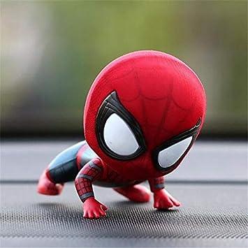 Spiderman Head Décoration Shake Jouet De Voiture En Résine Modèle 80mnvOwN