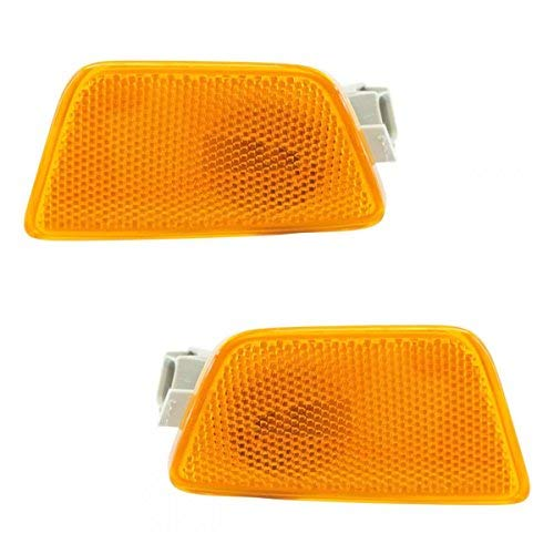 (Front Bumper Mounted Side Marker Light Assembly LH RH Pair for Chevy Cruze)