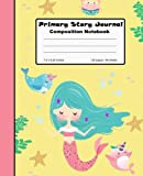 Primary Story Journal Composition Notebook: Mermaid Yellow Draw and Write, 7.5' x 9.25' Grade Level K-2 Draw and Write, Dotted Midline Picture Notebook Early Childhood to Kindergarten