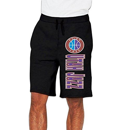 Men's Utah Jazz Logo Cotton Short Pajama Pants Black US Size M