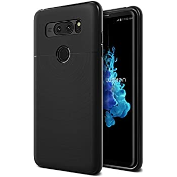 LG V30 Case, Ultra Slim Protective Armor Defender TPU Cover (Perfect Fit Flexible Lightweight) Anti-Slip Bumper for LG V30 (2017) by Lumion (Pro-fit - black)