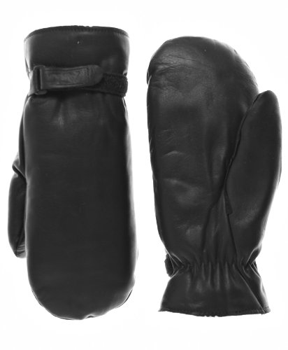 Leather Mittens Cowhide (Raber Gloves Men's Winter Cowhide Leather Mittens Size L Color Black)