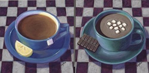 Caffeine Cups 1 Poster Print by Debra Ozello (24 x 12)