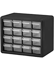 6 Drawer 10126, Plastic Parts Storage Hardware and Craft Cabinet, (20-Inch W x 6-Inch D x 10-Inch H), Black
