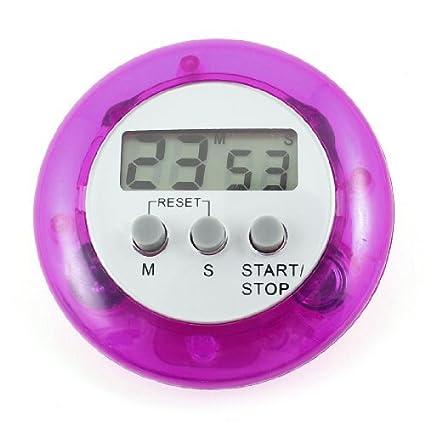 eDealMax púrpura del hogar de plástico de vivienda electrónico digital de cuenta atrás hasta Reloj Temporizador