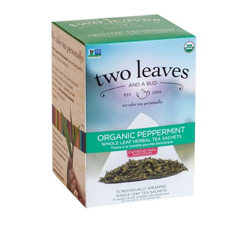 Two Leaves & A Bud, Tea Peppermint Organic Sachets, 15 Count