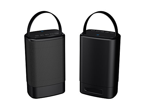 Sylvania Portable Outdoor Dual Bluetooth Speakers-Set of 2 Speakers, SP096-Black