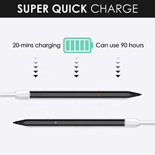 Renaisser Stylus Pen for Surface, Raphael 520 Magnetic Stylus Pen, 4096 Levels Pressure, Tilt & Palm Rejection, HB+H+2H Tips, Rechargeable, for Surface Pro/Go/Laptop/Book/Studio