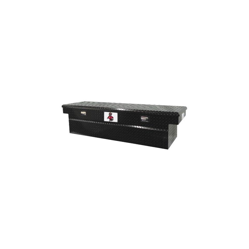 Tradesman North Carolina State 71 Black Aluminum Single Lid Full Size Cross Bed Truck Tool Box