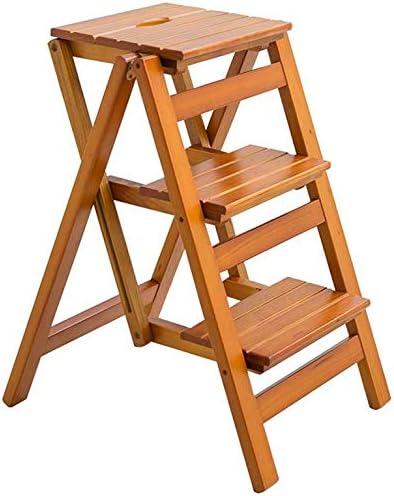 YZjk Taburetes, Escalera Plegable para el hogar Espesar la Creatividad Taburete de Madera Maciza (Color: # 2): Amazon.es: Hogar