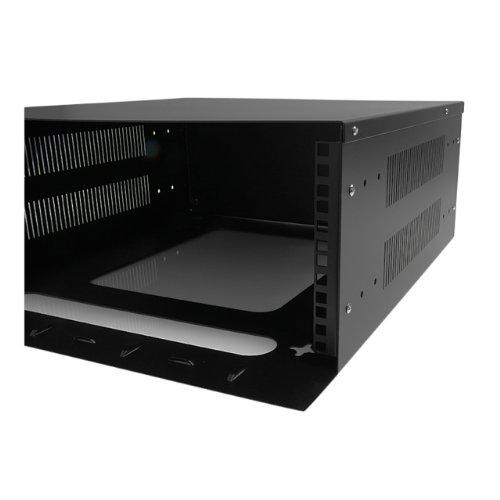 StarTech.com 4U 19-Inch Steel Horizontal Wall Mountable Server Rack RK419WALVO (Black) by StarTech (Image #3)