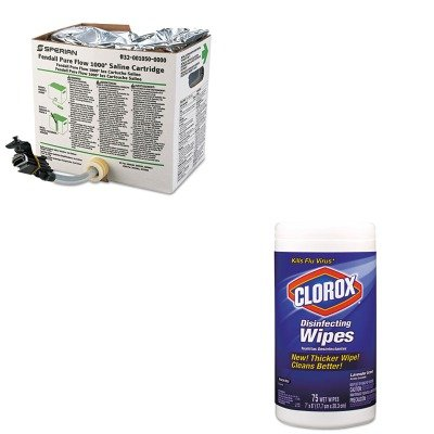 Fendall Saline - KITCOX01761EAFND320010500000 - Value Kit - Honeywell Fendall Saline Cartridge Refill Set for Pure Flow 1000 (FND320010500000) and Clorox Disinfecting Wipes (COX01761EA)