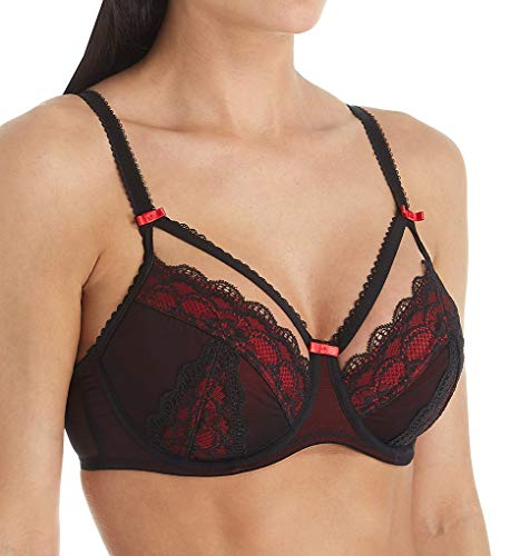 Pour Moi Women's Instinct Underwire Bra 61002 36D Black/Red