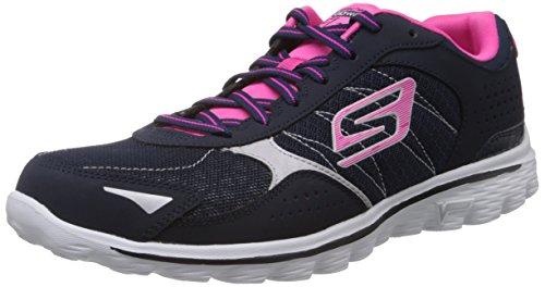 Skechers GO Walk 2Flash - Zapatillas para mujer Azul (NVHP)
