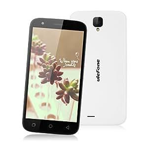 "Ulefone U007 Pro - Smartphone libre 4G Android 6.0 (Pantalla 5.0"", Cámara 8.0 Mp, 8GB ROM, 1GB RAM, Quad Core 1.0GHz, Dual SIM), Blanco"