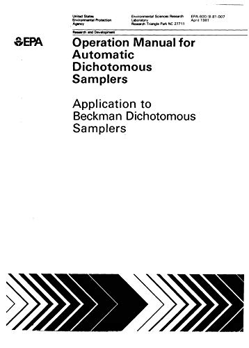 Operation Manual For Automatic Dichotopous Samplers Application To Beckman Dichotomous Samplers ()