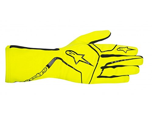 Alpinestars 3552717-551-S Youth Tech 1-K Race S Gloves, Yellow Fluorescent, Size S