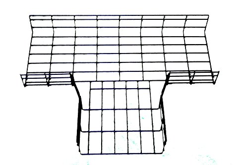 [해외]WireRun T-Junction, 2in H x 6in W, 분체 도장/WireRun T-Junction, 2in H x 6in W, Powder Coated