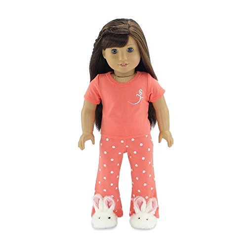 18 Inch Doll Clothes Coral Pajamas PJs | Fits 18