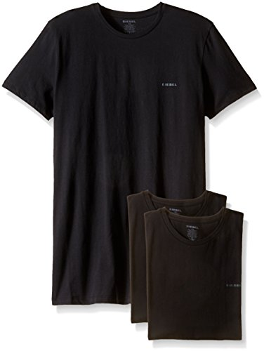 Diesel Men's Jake 3-Pack Essentials Crew Neck T-Shirt, Black, Medium