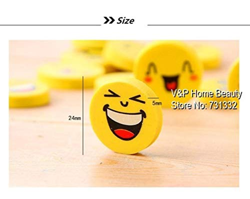 120 pcs/Lot Smile face Erasers rubber for pencil funny cute stationery Novelty eraser Office supplies by PomPomHome (Image #2)