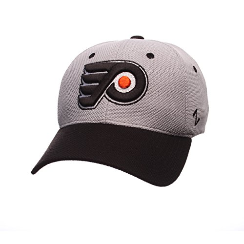 Zephyr NHL Philadelphia Flyers Men's The Athlete Z-Fit Hat, X-Large, Grey/Black