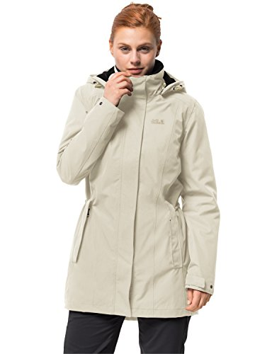 bfdd3ecb58c Jack Wolfskin Women's Madison Avenue Coat, White Sand, X-Large