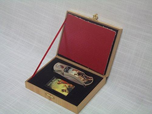 Civil War Folding Knife/Oil Lighter Gift Set