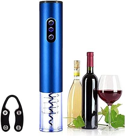 Sacacorchos eléctrico recargable abridor de vino con cortador de aluminio y cargador de batería de abrelatas automático de botellas/sacacorchos Bar Accesorios-Batería Power Silver