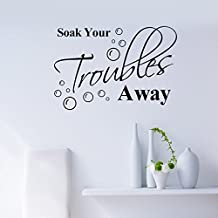 """Soak your troubles away.""English Proverbs Wall Stickers Decor Bathroom Wall Stickers D¨¦cor"