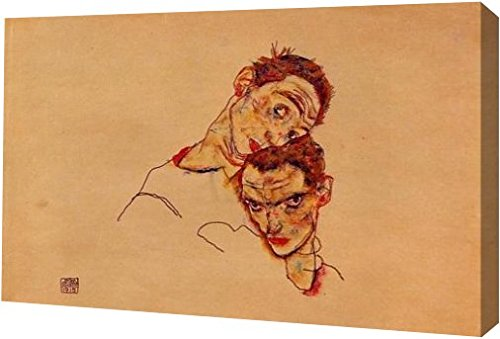 Double Self Portrait by Egon Schiele - 13