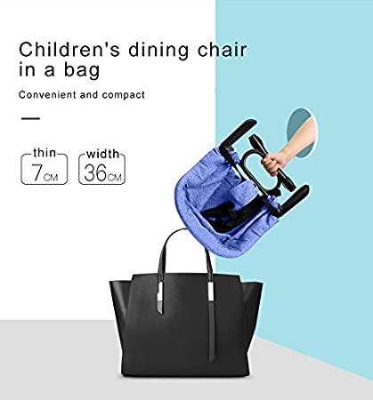 Easy Clip-on Table high Chair Folding Baby Hook On Seat for Home and Travel Blue Fast Hook On Table Chair Portable Table High Chair