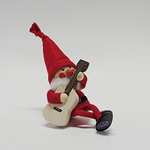 【NORDIKA nisse ノルディカ ニッセ】クリスマス 木製人形(ギターを持ったサンタ / NRD120068)