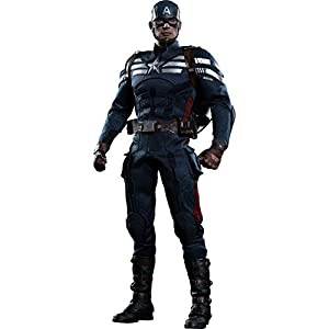 Hot Toys The Winter Soldier Movie Masterpiece Captain America Collectible Figure [Stealth S.T.R.I.K.E. Suit]