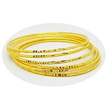 d10fed4d9448c Set of 6 Multiple Bracelets Bangle 18k 22k 23k 24k Thai Baht Yellow Gold  Plated
