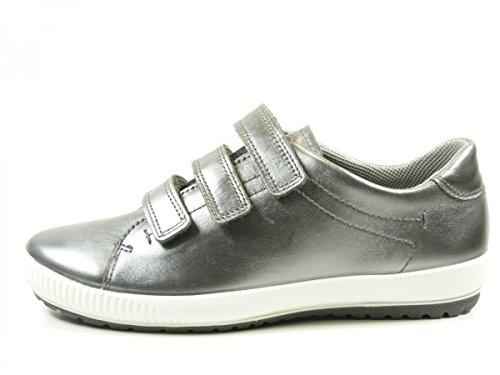Legero 1-00812 Tanaro - Zapatillas de cuero para mujer Grau