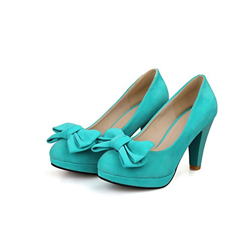 Heels On Womens Solid Pull High BalaMasa Blue Pumps Shoes Iw7qgvEx