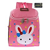 Donalworld Children's Cute Kawaii Rabbit Cotton Backpack Kid's School Bag Book Bag