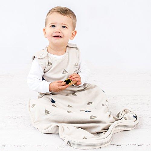 Woolino Baby Sleep Bag Or Sack by 4 Season Merino Wool Wearable Blanket Gown, 2-24 Months, Boats by Woolino (Image #4)