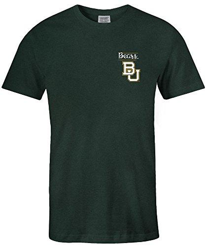 NCAA Baylor Bears Adult Unisex NCAA Sketchbook Comfort Color Short sleeve T-Shirt, Medium,Willow