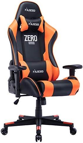 Musso Ergonomic Orange Gaming Chair Adjustable Esports Gamer Chair