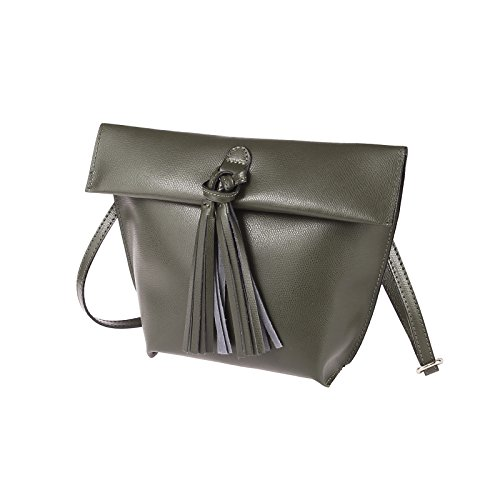 Pelle In Borsa bella A Taupe Solo Donne couture Tracolla Le Per Schlamm Obc UWY0tawqt