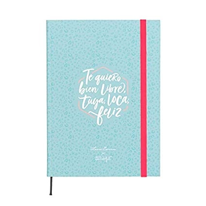 Mr. Wonderful Planificador semanal Laura Escanes & Mr. Wonderful, Azul, Medidas 15 x 21