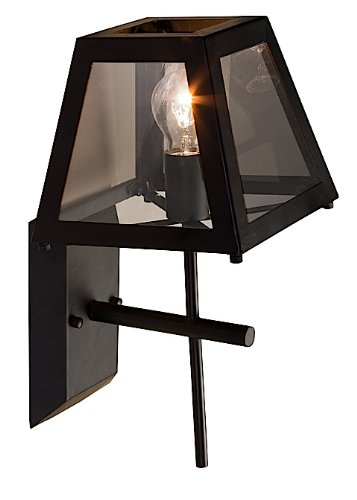 Artcraft Lighting Kingston Wall Lamp Light, Black Black Kingston Wall Lantern