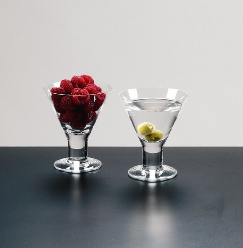 Caprice - Set of 4 Mouth blown Lead Free Crystal Martini or Dessert Servers - 6 Oz H4.5'' by Badash (Image #2)