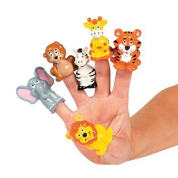 (12 Zoo Animal Finger Puppets)