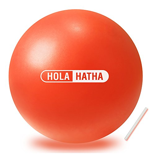 Mini Exercise Ball for yoga, pilates, barre, fitness-Stability ball accessories for strengthening core exercise (Orange, 12- inch) by HolaHatha