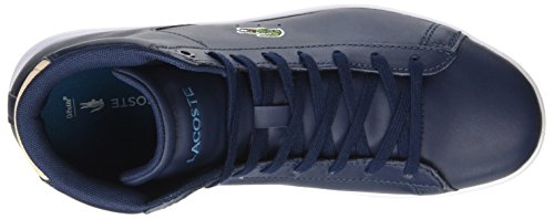 Lacoste Ladies Carnaby Evo Mid 317 1 Trainer Blu Alta (nvy)